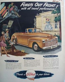 Ford With All Round Performance Ad 1947