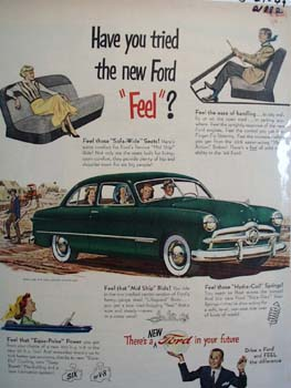 Ford Have You Tried The New Ford Feel Ad 1949