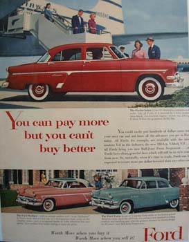 Ford Can t Buy Better Ad 1954