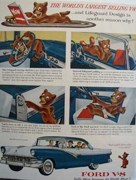 Ford And Teddy Bear Ad 1956