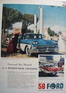 Ford Around The World Ad Ranchero1958