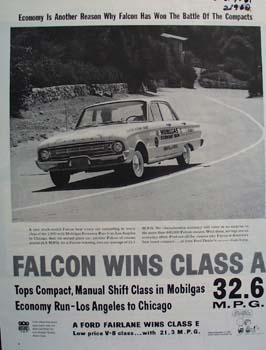 Ford Falcon Wins Class A Ad 1961