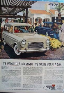 Ford It's Imported English Ford Line Ad 1959