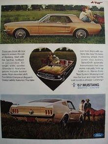 Ford And Mustangs Ad 1966