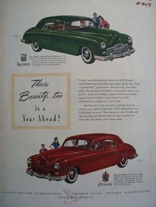Kaiser Frazer Their Beauty Too Ad 1946