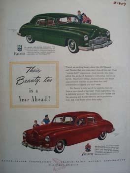 Kaiser Frazer Their Beauty Too Ad 1946
