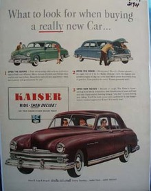 Kaiser What To Look For Ad 1949