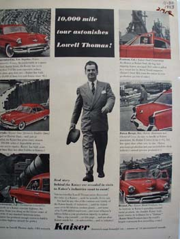 Kaiser And Lowell Thomas Ad 1953