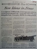 Hudson New Ideas in Sixes Ad 1914
