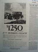 Hudson  Super six Sedan Ad 1925