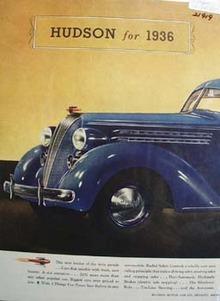 Hudson for 1936 Ad 1935