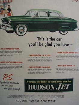 Hudson Car Glad You Have Ad 1953