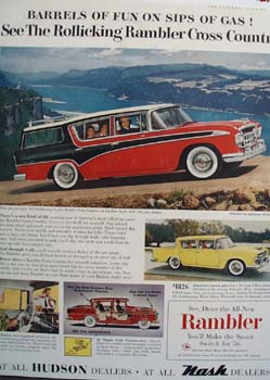 Hudson Rambler Sips Of Gas Ad 1956