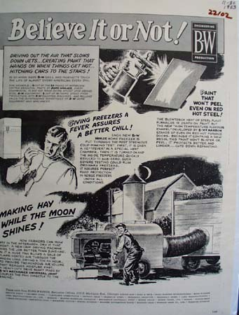 Borg Warner Believe It Or Not Ad 1953