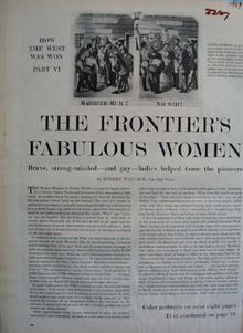 Frontiers Fabulous Women Article And Pictures 1959