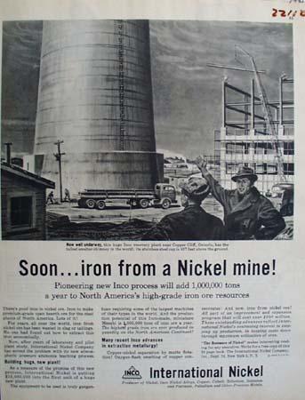 International Nickel Iron From Nickel Mine Ad 1945