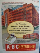 Chesterfield And Cigarette Factory Bldg Ad 1950