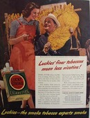 Lucky Strike And Alex Irvin Ad 1940