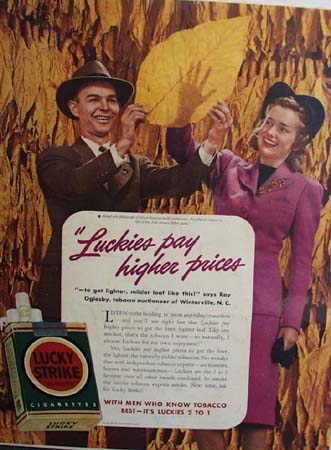 Lucky Strike and Ray Oglesby Ad 1941