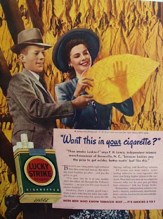 Lucky Strike And F H Lewis Ad 1941
