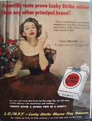 Lucky Strike And Lilli Palmer Ad  1950