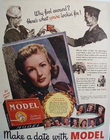 Model Tobacco Why Fool Around Ad 1943