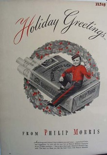 Philip Morris Christmas Ad 1942