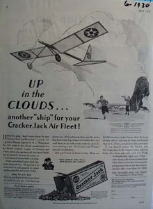 Cracker Jack Up In The Clouds Ad 1930