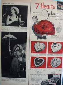 Johnston Candies Seven Hearts Ad 1958