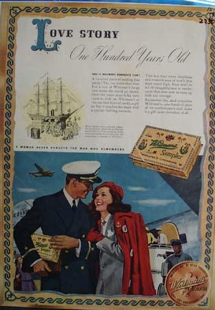 Whitman Sampler Love Story Ad 1942