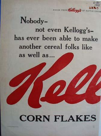 Kelloggs Makes Cereal Folks Like Ad 1958
