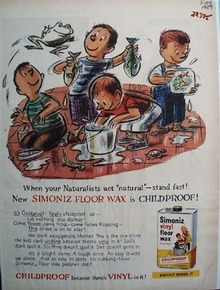 Simoniz Floor Wax Boys Toads Fish Ad 1959