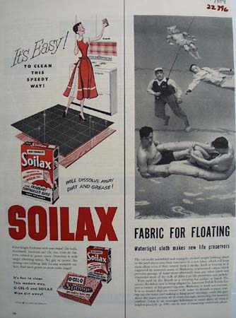 Soilax It Is Easy Ad 1954