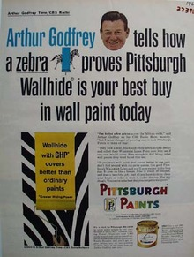 Pittsburgh Paints And Arthur Godfrey Ad 1965