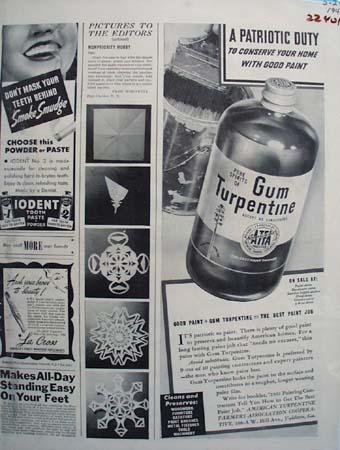 Gum Turpentine A Patriotic Duty Ad 1943