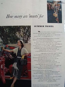 Clothing For Summer Travel Ad 1952