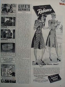 Happy Home Frocks That Is That Ad 1942