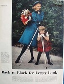 Back to Black for Leggy Look Ad 1958
