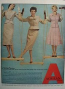 Three Ladies In Suits Made With Acrilan Ad 1954