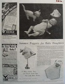 Summer Toggery For Baby Daughters Ad  1937