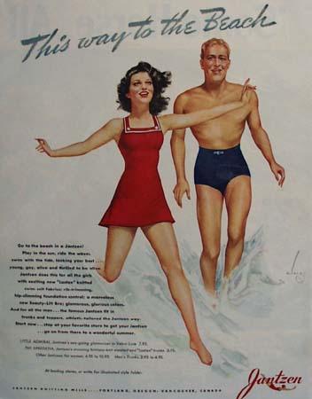 Jantzen This Way To Beach Ad 1941
