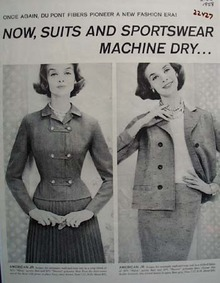 DuPont Fibers Pioneer New Fashion Ad 1958