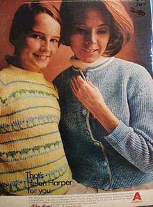 Helen Harper Sweaters by Chemstrand Ad 1954