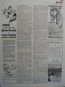 Yank Junior Or Honor Bright Shirt Ad 1929