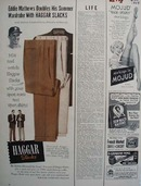 Haggar Slacks Eddie Mathews Ad 1954