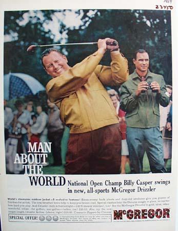 McGregor Jacket And Billy Casper Ad 1959