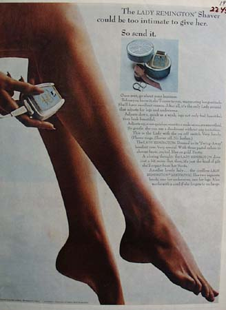 Remington Shaver Too Intimate To Give Her Ad 1964