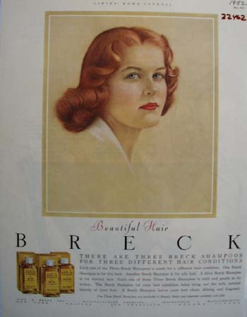 Breck Shampoo Three Different Ad 1952