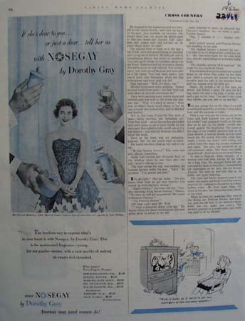 Dorothy Gray Cologne Patricia Mullarkey Ad 1952