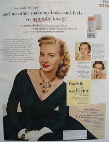 Max Factor And Lori Nelson Ad 1952